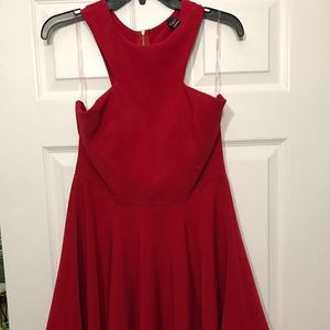 Red dress with cutout